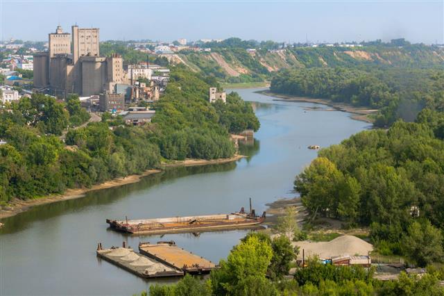 Backwater Of Ob River In Barnaul