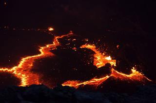 Lava Eruption Inside The Volcano