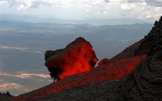 Lava Flow At Volcano Pacaya