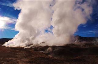 Geysers At Sol De Ma Ana Bolivia
