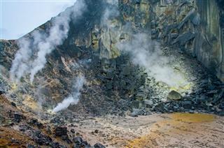 Sibayak Volcano Sumatra Indonesia