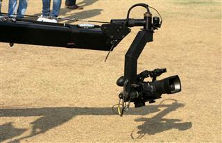 Video Camera On Crane