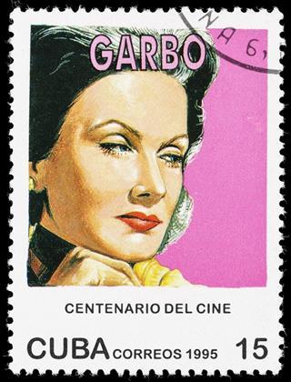 Cuba Greta Garbo Postage Stamp