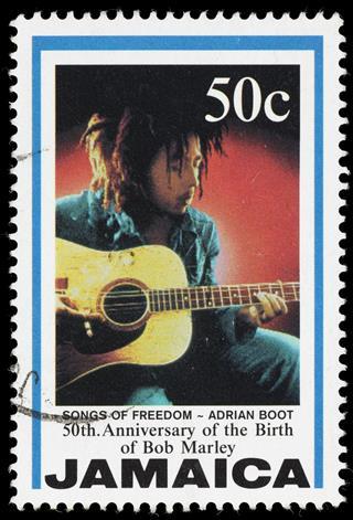 Bob Marley Postage Stamp