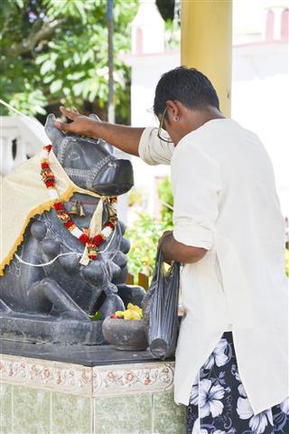 Praying Ritual On Hindu Festival