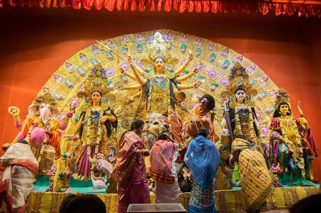 Durga Puja Pandal Kolkata India