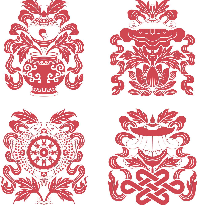 Tibetan symbols eight auspicious treasures in buddhism buycottarizona Gallery