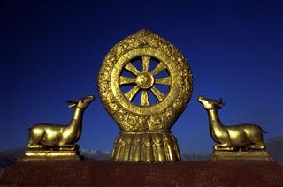Wheel Of Dharma Jokhang Monastery Tibet