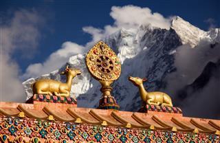 Wheel Of Life Near Lhasa