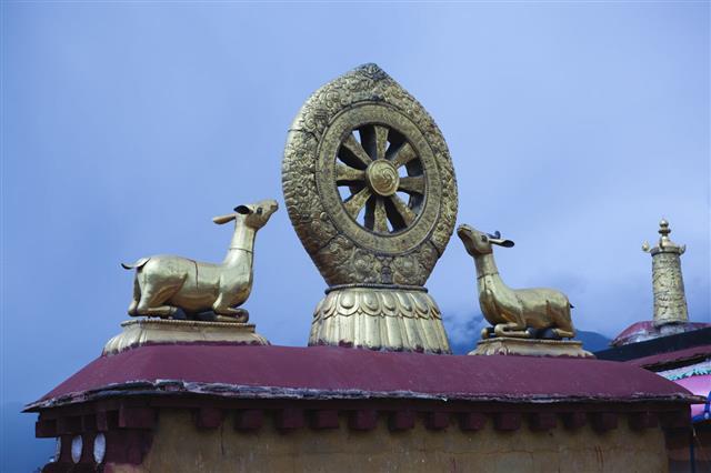 Dharma Wheel In Jokhang Monastery