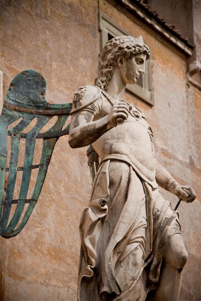 Marble Statue Of Saint Michael