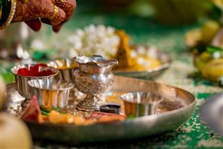 Silver Aarthi Plate
