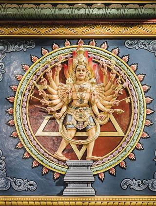 Goddess Bhagavathi In Hindu Temple