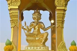 Gold Statue Of Brahma