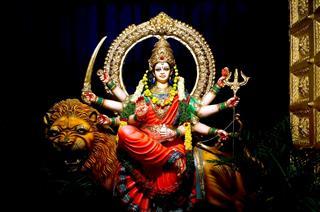 Fiery Indian Goddess Lakshmi