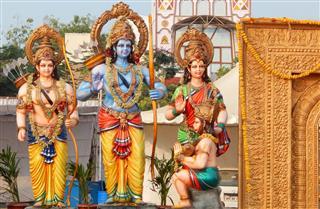 Hindu Gods Rama Lakshmana Sita And Hanuman