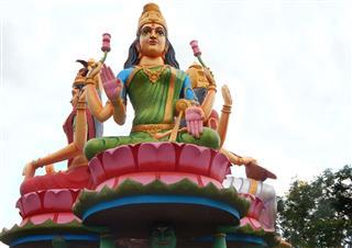 Goddess Saraswati Lakshmi And Durga