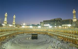 Pilgrims Circumambulate The Kaabah