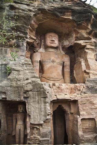 Jainism Statue In Gwalior