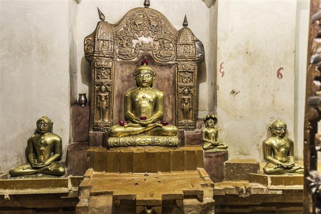 Jain Temple Mahavira In Jaisalmer India