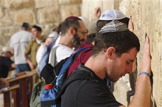 Praying At Jerusalems Western Wall