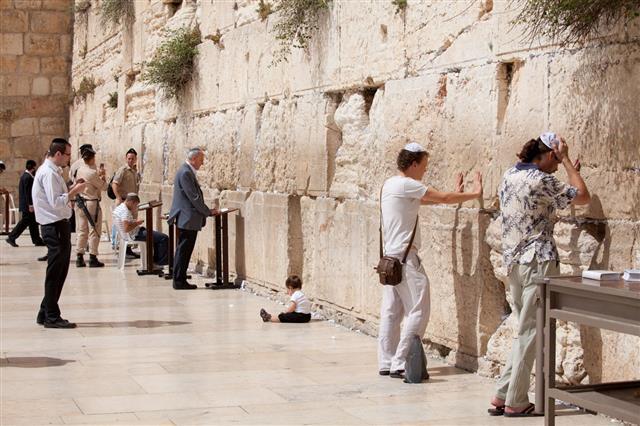 The Western Wall In Jerusalem Israel