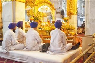 Sikhism Gurudwara Bangla Sahib Delhi India