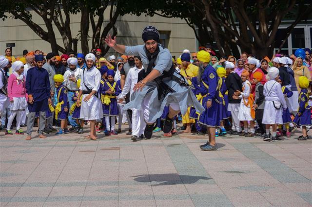 Devotee Sikh Man Dancing