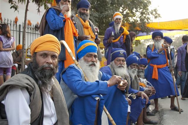 Group Of Sikh Men In Dastars