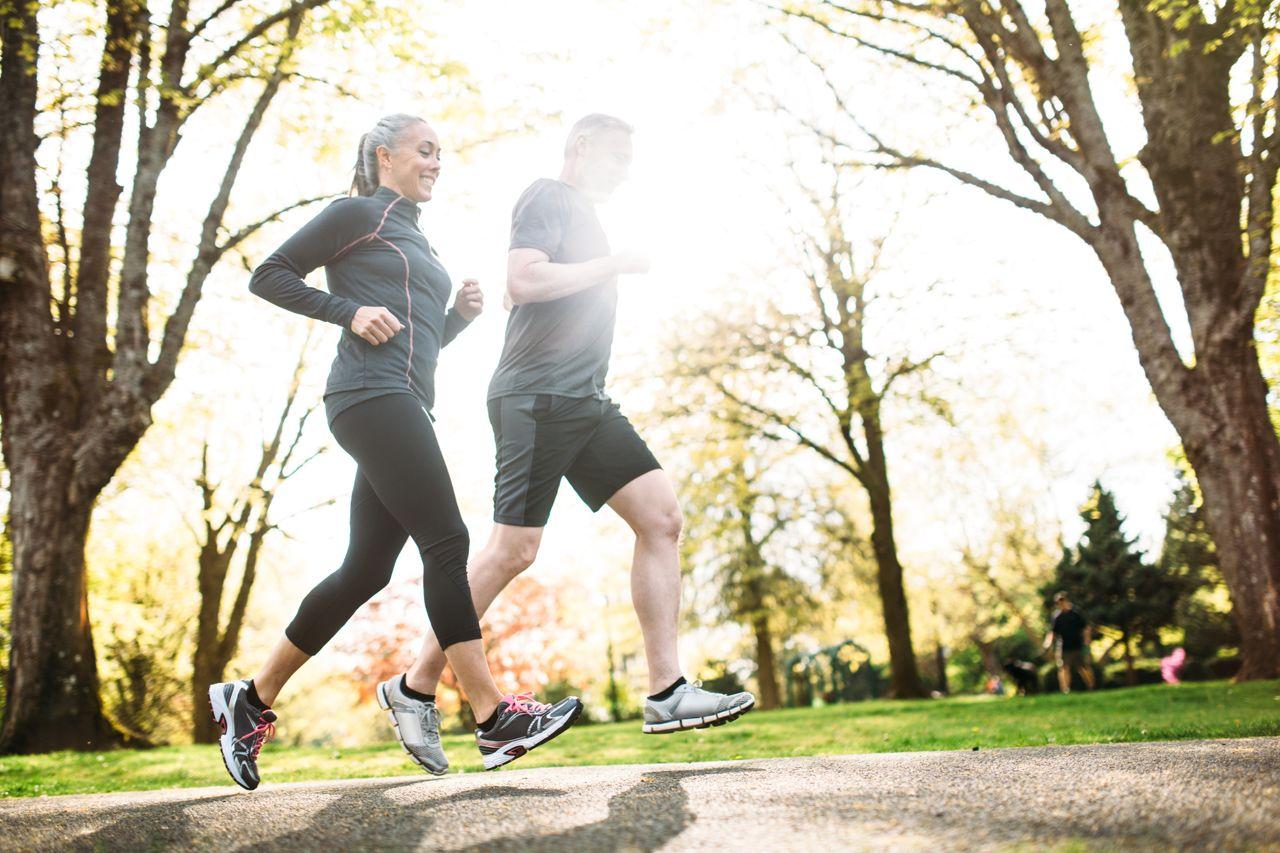 Mature Couple Jogging Outdoors