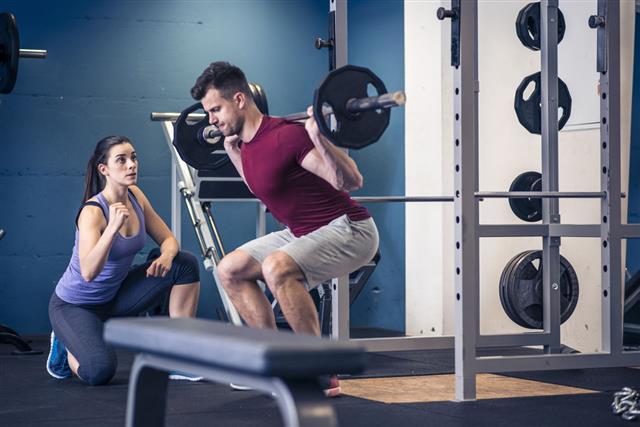 Man Doing Squat