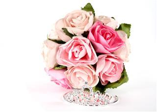 Tiara And Pink Roses