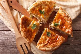 Rustic Sliced Chicken Pie
