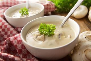 Mushroom Soup Still Life