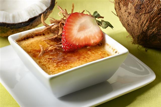 Coconut Creme Brulee Dessert