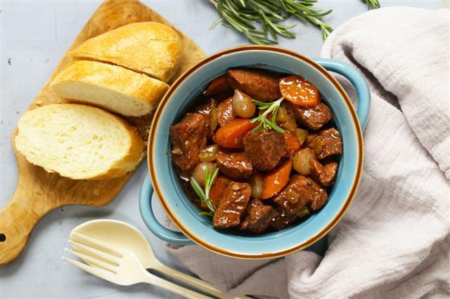 Beef Goulash Boeuf Bourguignon Stew Meat