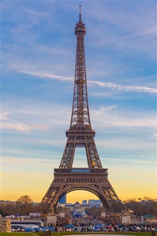 Eiffel Tower At Winter