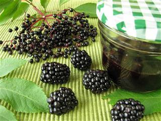Jam With Elderberries And Blackberries