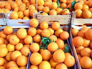 Oranges Fruit On The Market