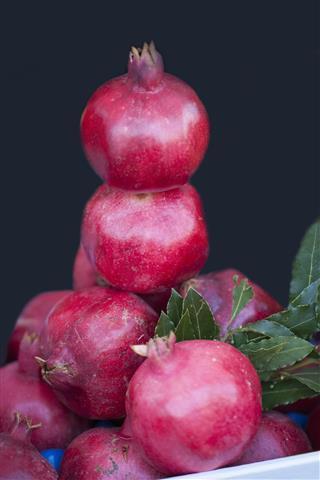 Pomegranates At Local Market