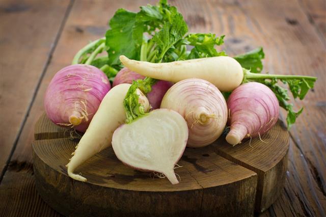 Fresh Turnip And White Radish