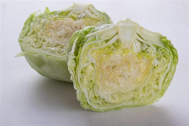 Sliced iceberg salad