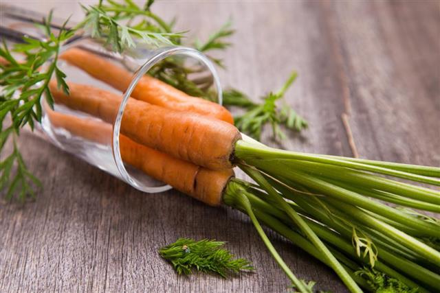 Fresh raw carrot