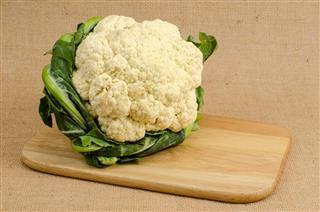 Cauliflower on wooden