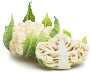 Whole and half Cauliflower