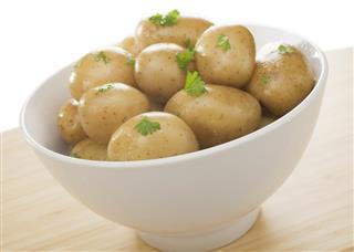 New Potato Bowl Boiled Food