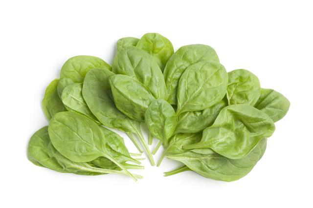 Fresh Raw Spinach Leaves