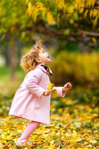 Girl Enjoying Autumn