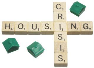 Housing Crisis Scrabble Tile Words