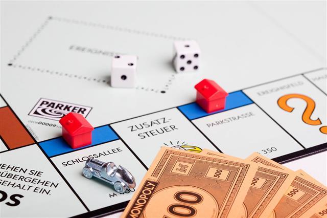 German Monopoly Board Schlossallee